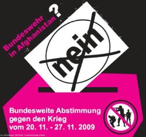 Abstimmung gegen den Krieg
